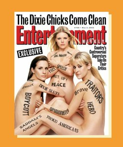 Entertainment weekly magazine featuring the Chicks on the front.