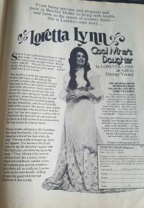 Loretta Lynn Coal Miners Daughter advertisement.