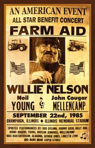 Poster promoting farm aid